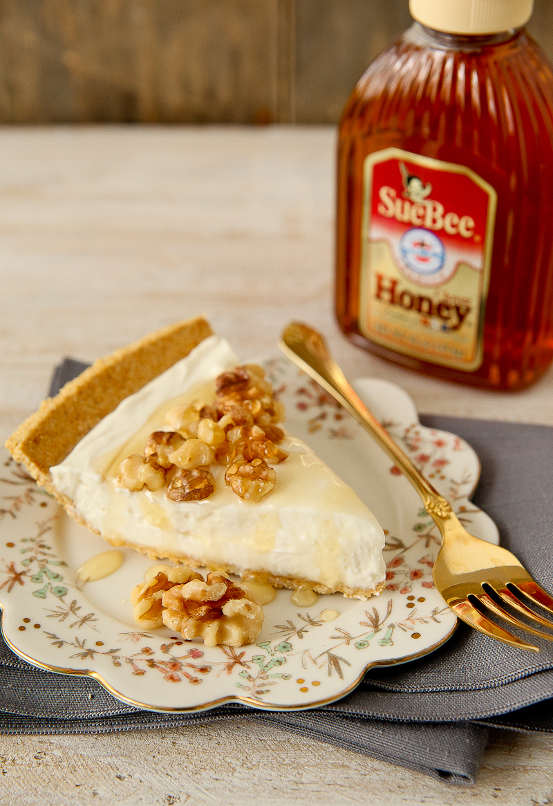 Honey Yogurt Pie with Honey Drizzle and Toasted Walnuts ...
