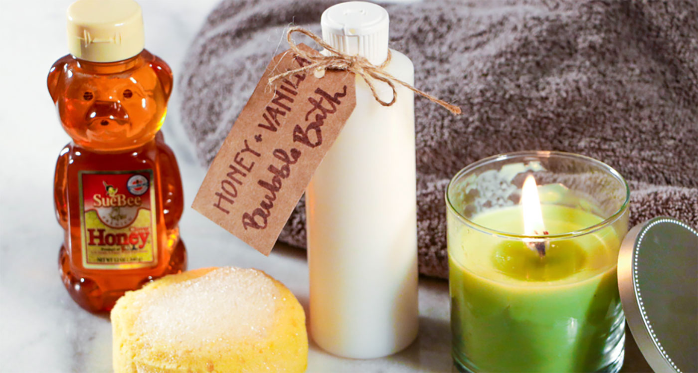 diy honey vanilla bubble bath - sioux honey association co-op