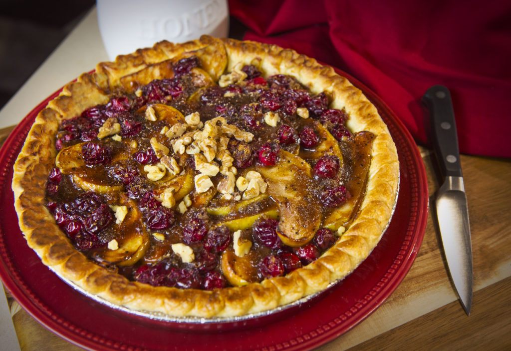 Honey Apple Cranberry Pie