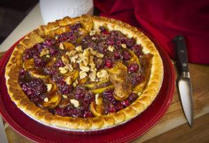 Honey Apple Cranberry Pie