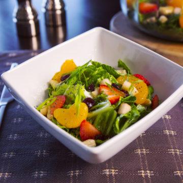 Romaine Salad with Honey Lemon Dressing
