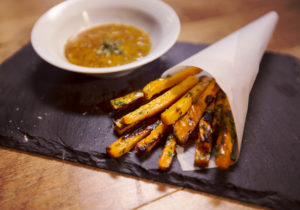 Oven baked Sweet Potato Fries with Honey Mustard Sauce