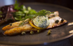 Honey Candied Trout with lemon butter