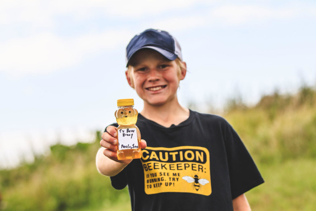 Tucker Olsen, 11-year-old beekeeper